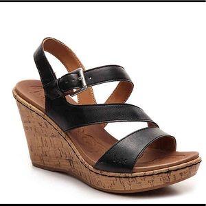 B.O.C Schirra Black Wedge Sandals